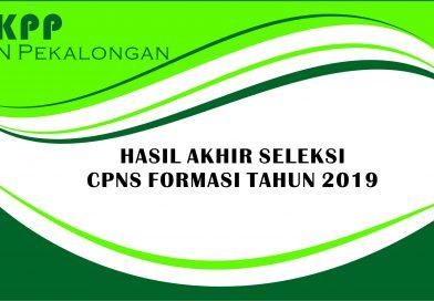 Pengumuman Hasil Akhir Seleksi CPNS IAIN Pekalongan Tahun 2019